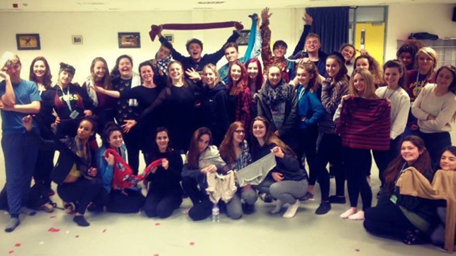 Dance professionals deliver student workshop